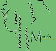 Merida´s outline in black by artescultura