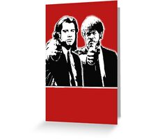 Pulp Fiction Black and White Greeting Card
