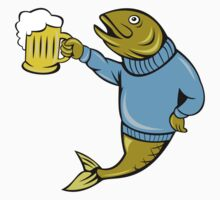 Retro Fishing and Beer T Shirt by partypeepsfun