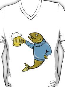 Retro Fishing and Beer T Shirt T-Shirt