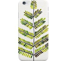 Green Leaflets iPhone Case/Skin