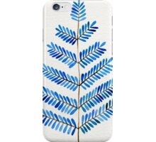 Blue Leaflets iPhone Case/Skin