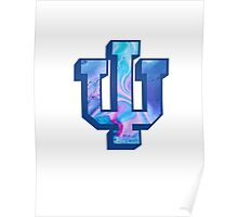 Indiana University Water Marble Logo Poster