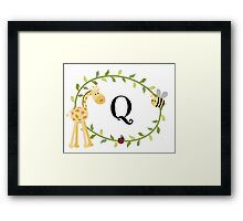 Nursery Letters Q Framed Print