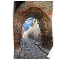 fantastic stone passage Poster