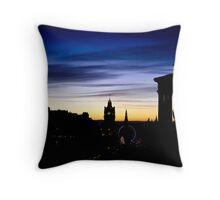 Edinburgh Skyline Throw Pillow