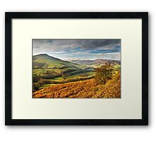 Lose Hill & Edale Valley, Peak District Framed Print