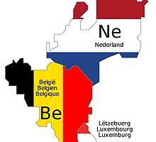 Benelux Flag Map by abbeyz71