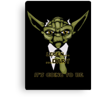 Legen... Dary Jedi Canvas Print