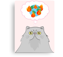 Some Cats Just Want To Watch The World Burn Canvas Print