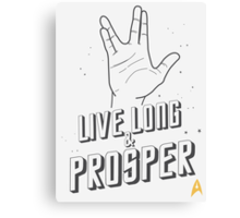 Live Long and Prosper - Leonard Nimoy - Star Trek - White Shirt Canvas Print