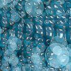 bubbles blue background by dominiquelandau