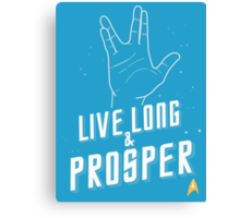 Live Long and Prosper - Leonard Nimoy - Star Trek - in Colours Canvas Print