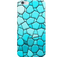 Turquoise Blue Abstract Mosaic iPhone Case/Skin
