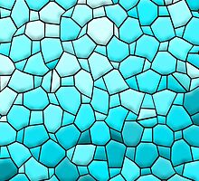 Turquoise Blue Abstract Mosaic by MarkAntum