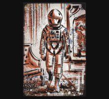 2001 A Space Odyssey Art Stanley Kubrick film movie director sci fi science fiction drawing illustration joe badon stars Christmas T-Shirt