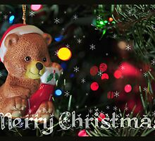 Christmas Bear Card by BluAlien
