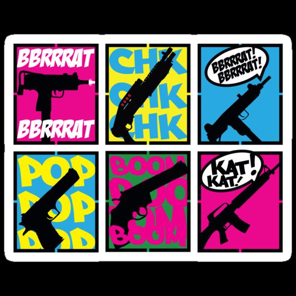 COMIC BOOK GUN SOUNDS by bluebaby