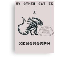 My Other Cat is a Xenomorph Canvas Print