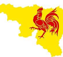 Flag Map of Wallonia  by abbeyz71