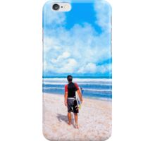 Surfer Gazing At The Horizon at Playa del Carmen iPhone Case/Skin