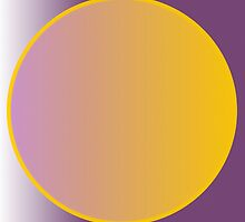 Abstract Circle - Purple and Orange by Adam Asar