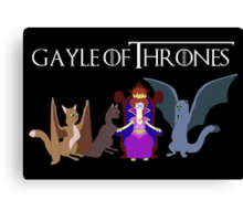 Gayle Of Thrones Canvas Print
