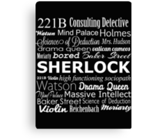 Sherlock in Words Canvas Print