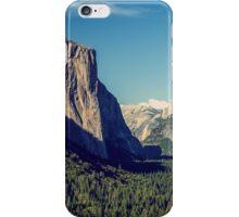 Blue vintage look to Yosemite National Park Entrance iPhone Case/Skin