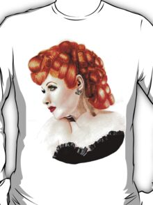Lucille Ball Pencil Drawing T-Shirt