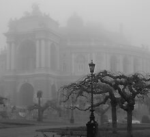 Opera House in Fog by Bob Burnham