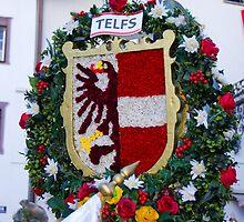 Coat of arms of Austrian town Telfs by Elzbieta Fazel
