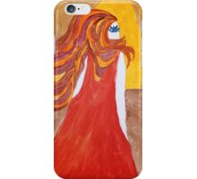 Lady in Red, Abstract Portrait iPhone Case/Skin