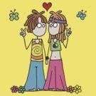Hippie Lovers T by Amy-lee Foley