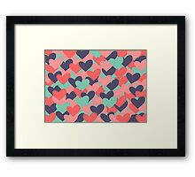 Colorful hearts Framed Print