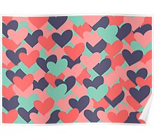 Colorful hearts Poster