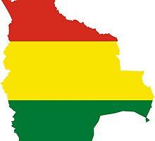 Flag Map of Bolivia  by abbeyz71