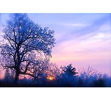 Winter Sunset, Brannon Mt. NW Arkansas, USA Photographic Print