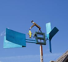 Wooden weathervane, outside Vilnius by Donald Williams