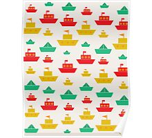 Boats and shapes Poster
