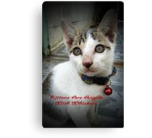 Kittens Are Angels With Whiskers Canvas Print