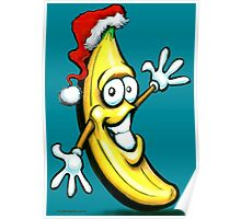 Merry Christmas Banana Happy New Year Poster