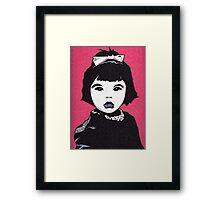 Baby Bjork Framed Print