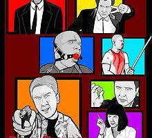 pulp fiction character collage pop art by gjnilespop