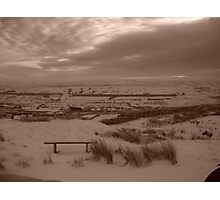 Bleak midwinter on top of the hill Photographic Print