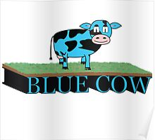 The blue cow Poster