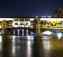 Swollen Arno River (under Ponte Vecchio) by tati69
