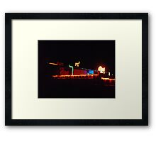 Bright Lights of Bluff Framed Print