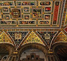 Ceiling, Piccolomini Library, Siena, Italy by bevanimage