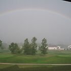 Rainbow on Hole 18 by Dave Wildner